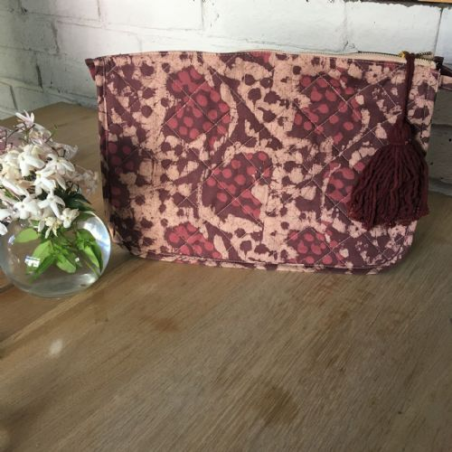 Large Cotton Quilted Toiletry Bag